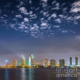 Alexander Kunz - San Diego Night Skyline with Stars
