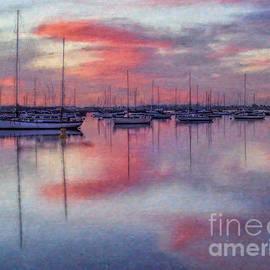 Lianne Schneider - San Diego - Sailboats at Sunrise