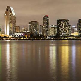 Lee Kirchhevel - San Diego Skyline Panoramic 2