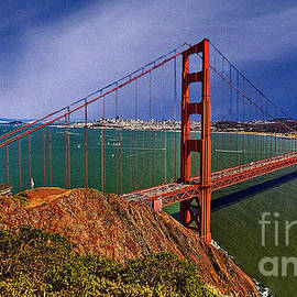 Dr Bob and Nadine Johnston - San Francisco Golden Gate Bridge