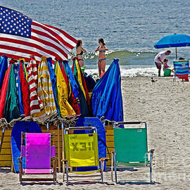 Tom Gari Gallery-Three-Photography - Sand Surf Stars and Stripes