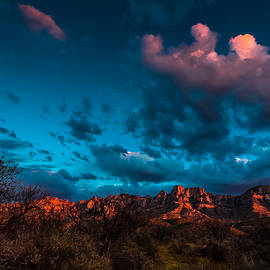 Ed  Cheremet - Santa Catalina Mountains at Sunset