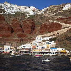 Colette V Hera  Guggenheim  - Santorini  Island  View to Oia Greece