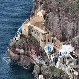 Lin Grosvenor - Santorini Painted House 1/2 Faux