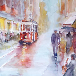 Faruk Koksal - Saxophone melodies on a rainy day in Beyoglu - Istanbul