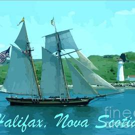 John Malone - Schooner and Lighthouse