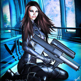 Alicia Hollinger - Sci-Fi Brunette with a Big Gun