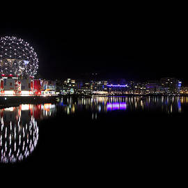 Eti Reid - Science world Vancouver night skyline