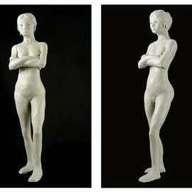 Richard Reeve - Sculpture - Lady Diptych
