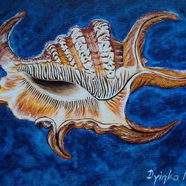 Drinka Mercep - Sea Shell Original painting Oil on Canvas No.3.