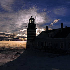 Marty Saccone - Sea Smoke at West Quoddy Head Lighthouse