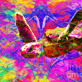 Wingsdomain Art and Photography - Sea Turtle In Abstract v3