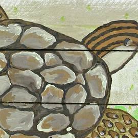 Catherine Lee - Sea Turtle On Wood