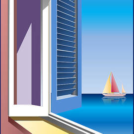 Anna Elia - Sea view through window