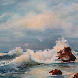Laurine Baumgart - Seascape evening glow