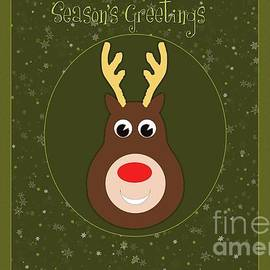 JH Designs - Seasons Greetings Reindeer