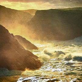 Anne Macdonald - Seaspray Rising Up The Cliffs