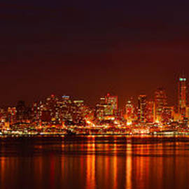 Abhay P - Seattle Skyline For 12th Man