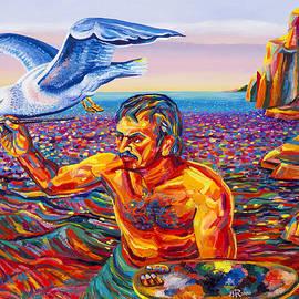 Moshe Rosental - Self  Portrait  With  Seagull