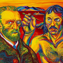 Moshe Rosental - Self  Portrait  With  Vincent  Van  Gogh