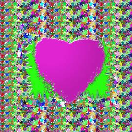 Navin Joshi - Sensual Pink Heart n STAR studded background