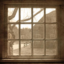 Brooke Ryan - Sepia Colonial Scene Through Antique Window