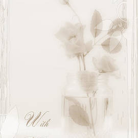 Sandra Foster - Sepia Roses With Sympathy Card