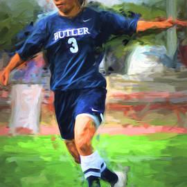 David Haskett - Serina Kashimoto Butler University Futbol Soccer Digitally Painted