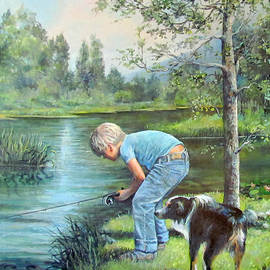 Donna Tucker - Seth and Spiky Fishing