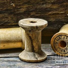 Paul Ward - Sewing Vintage Wood Spools