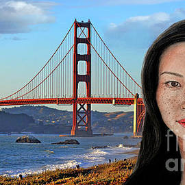Jim Fitzpatrick - Sexy Freckle Faced Beauty Lucy Liu Altered Version