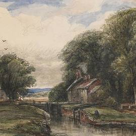 James Orrock - Shardlow Lock with the Lock keepers Cottage