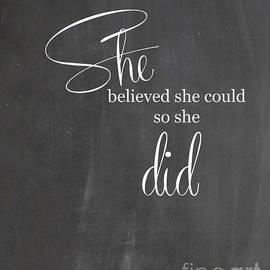 Jennifer Mecca - She believed she could so she did