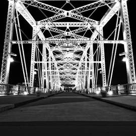Dan Sproul - Shelby Street Bridge At Night In Nashville