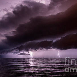 Marko Korosec - Shelf cloud with lightning