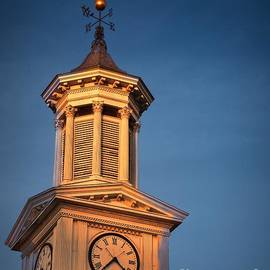 Julia Springer - Shepherd University - McMurran Clock Tower at Twilight