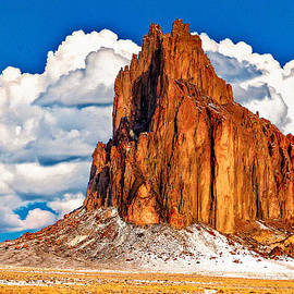 Dr Bob and Nadine Johnston - Shiprock And Clouds