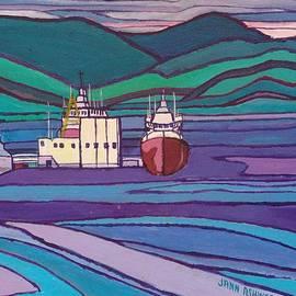 Janet Ashworth - Ships at Patricia Bay