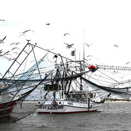 Travis Truelove - Shrimpers at Work - Boat - Miss Kathleen
