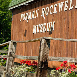 Robert Ford - Sign to Norman Rockwell Museum on Old Building in Rutland Vermont