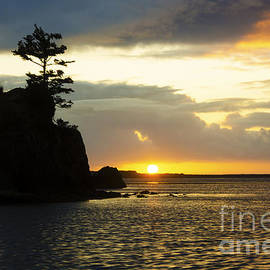 Bob Christopher - Siletz Bay Sunset Oregon 1