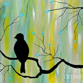 JoNeL Art  - Silhouette Bird Green