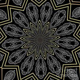 Rose Santuci-Sofranko - Silver and Gold Metallics on Black Kaleidoscope Abstract 1