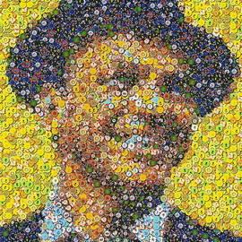 Paul Van Scott - Sinatra Poker Chip Mosaic
