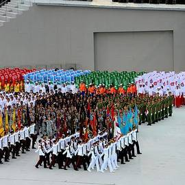 Imran Ahmed - Singapore National Day Parade military Regimental colors walk past