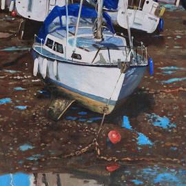 Martin Davey - Single Boat on Eling Mudflats