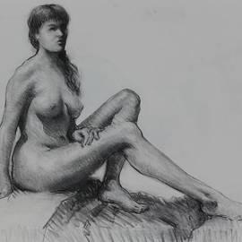 Ernest Principato - Sitting figure
