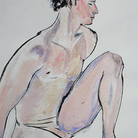 Asha Carolyn Young - Sitting Man with One Knee Up