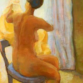 Alfons Niex - Sitting Nude Woman