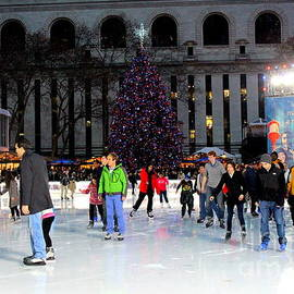 Photographic Art and Design by Dora Sofia Caputo - Skating at Bryant Park - New York City